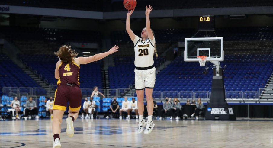 Iowa won its first NCAA Tournament game of the Caitlin Clark era 87-72 over Central Michigan